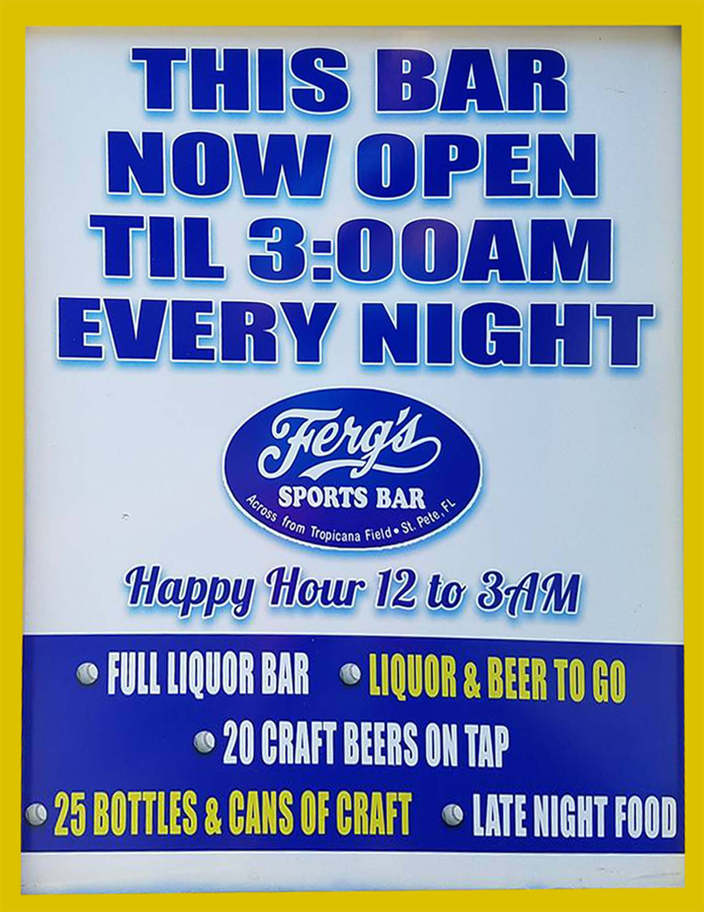 Now Open Till 3AM!