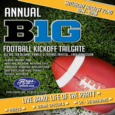 Big 10 Football Tailgate Kick-Off