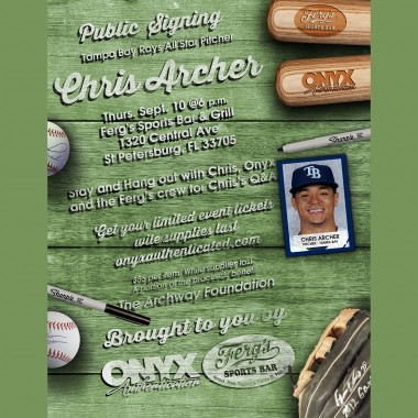 Chris Archer Signing Party