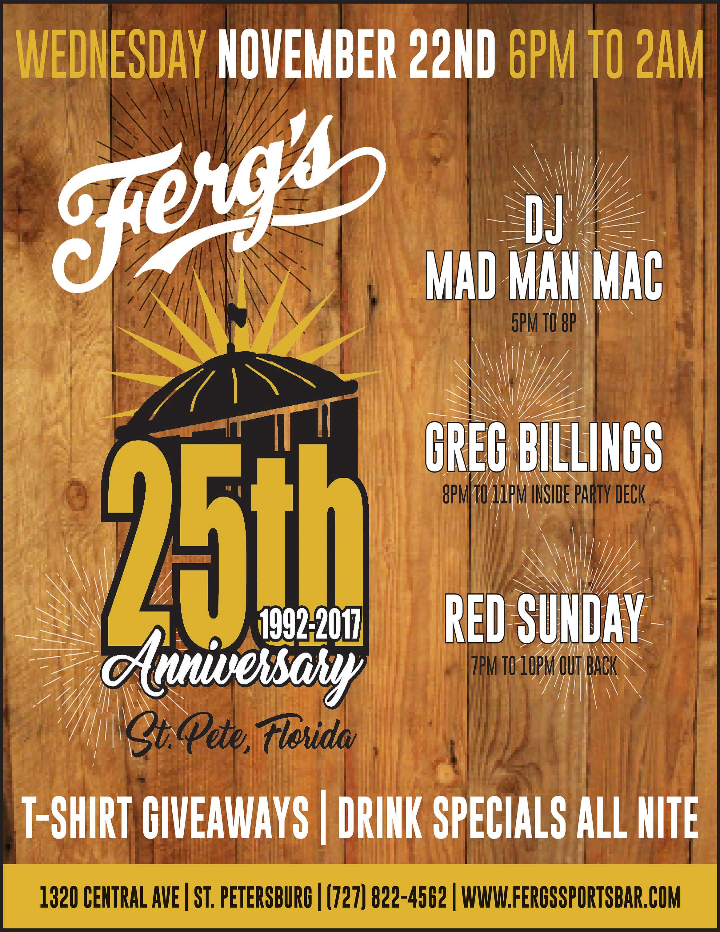 Ferg's 25th Anniversary