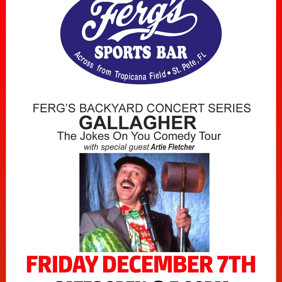 Ferg's Backyard Concert Series – Gallagher featuring Artie Fletcher