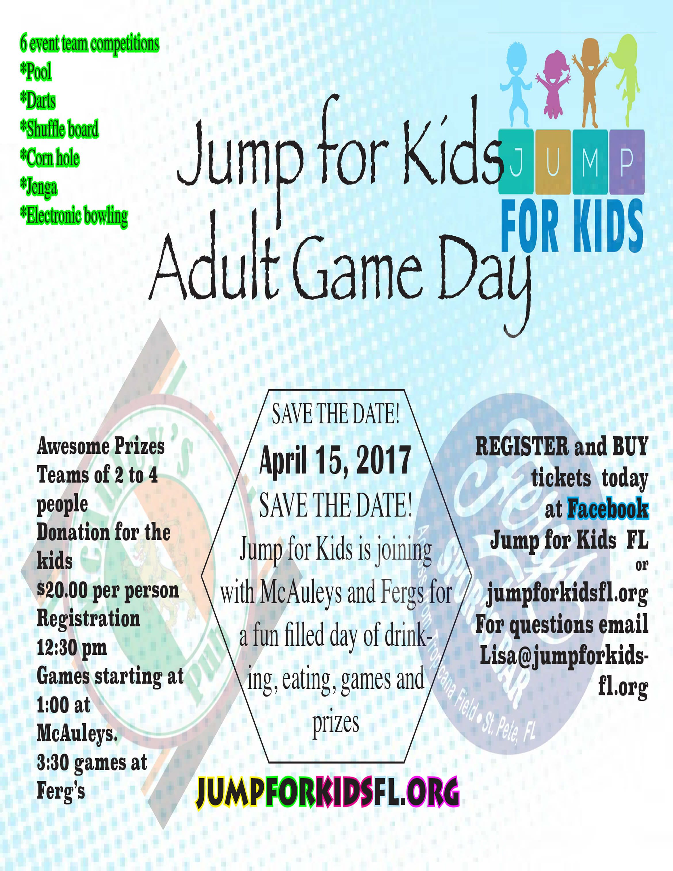 Jump For Kids Adult Game Day