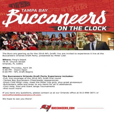 Buccaneers Orlando Draft Party