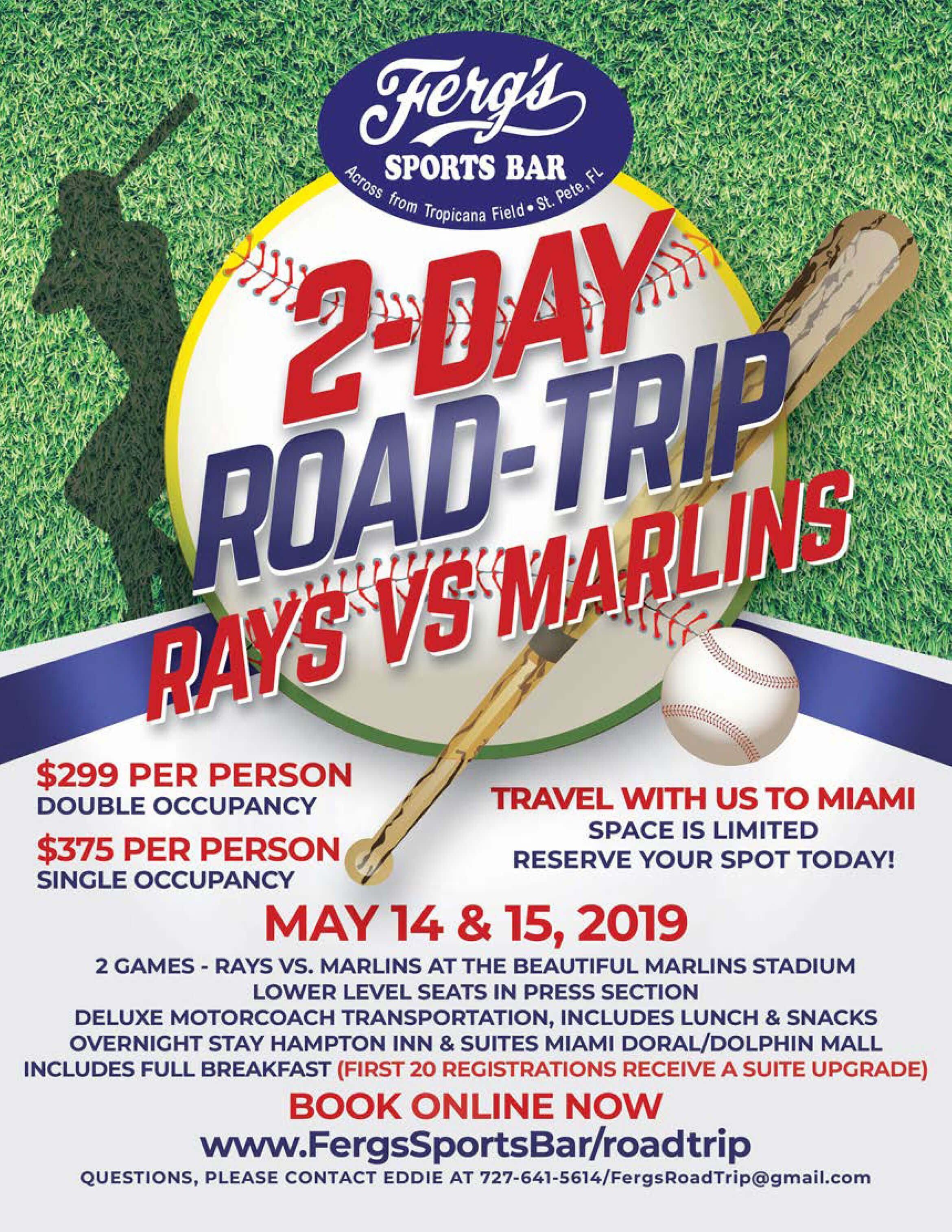 Rays vs. Marlins 2-Day Road Trip!
