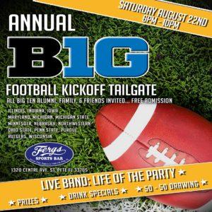 Big 10 Football Taligate Kick-Off