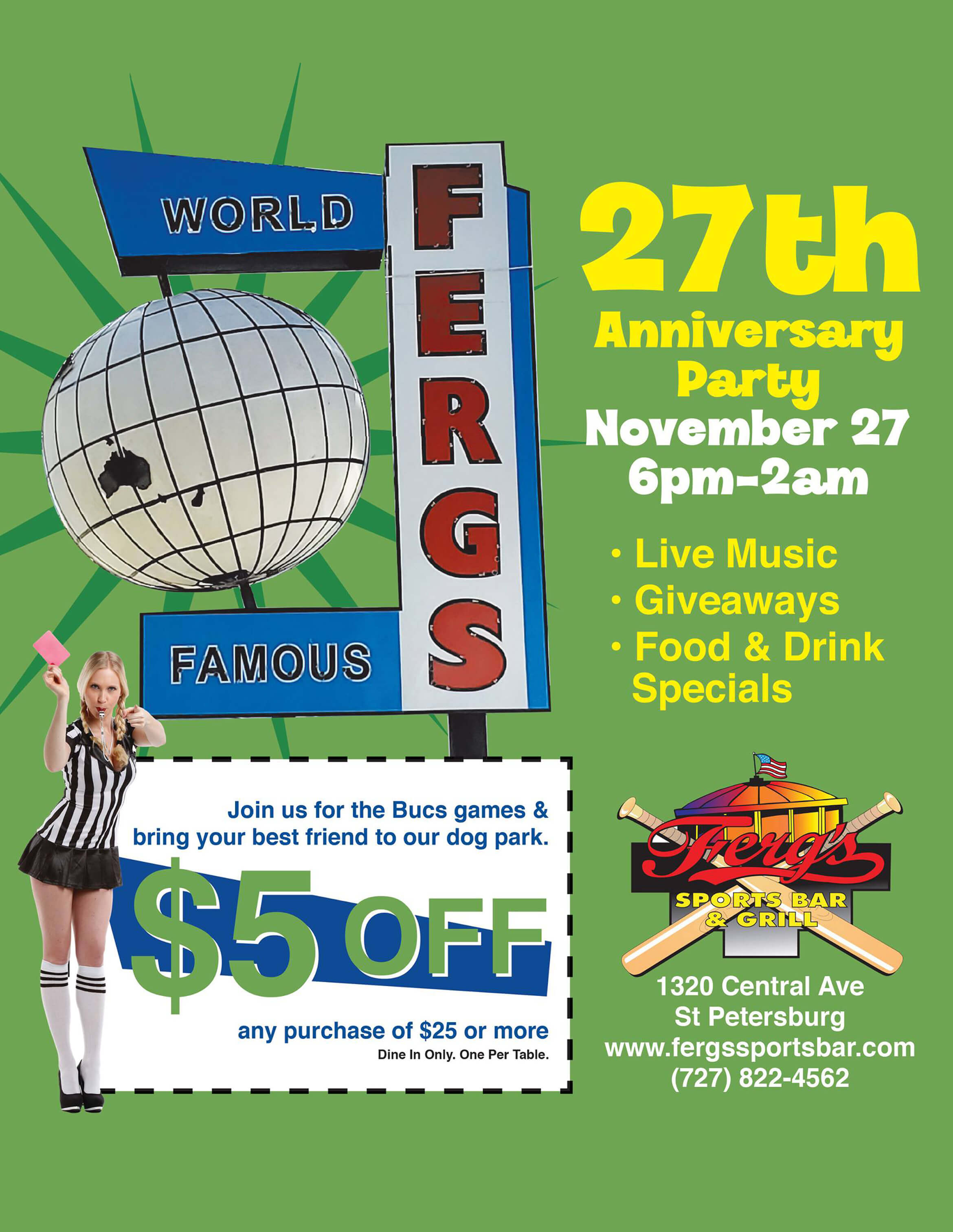 Ferg's 27th Anniversary Party