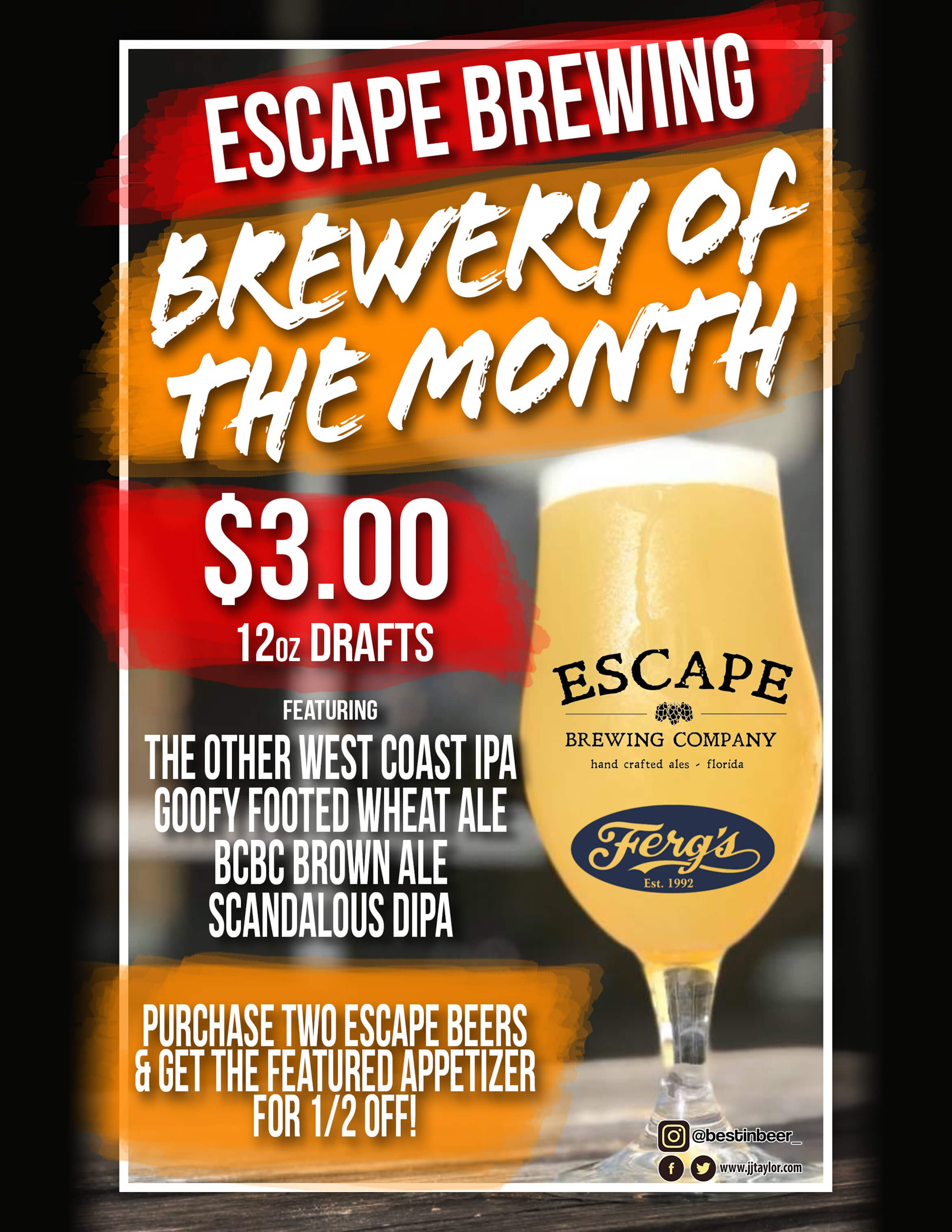 Ferg's Featured Brewery - Escape Brewing