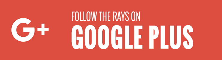 Follow the Rays on Google Plus