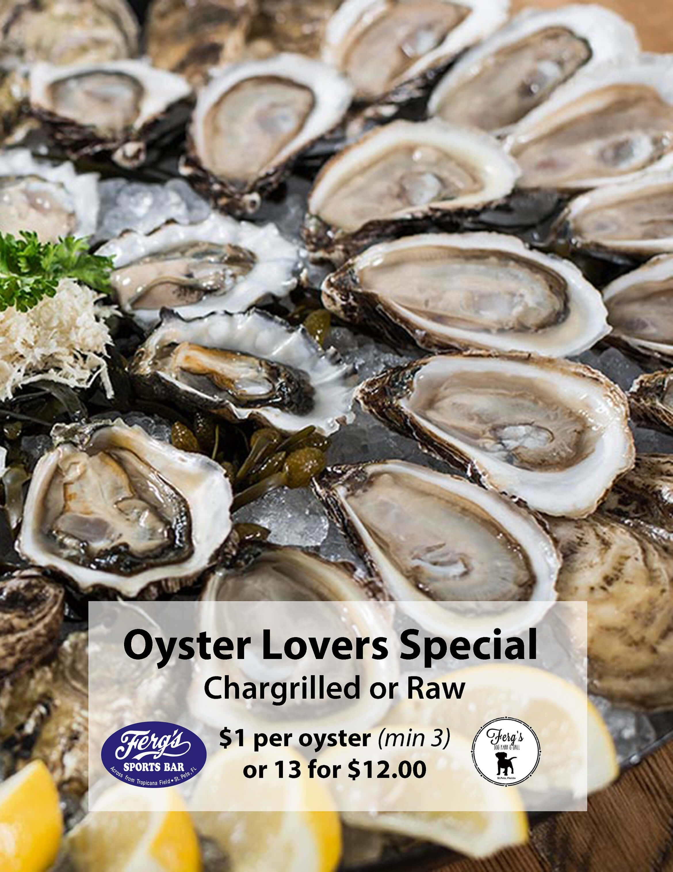 Oyster Lovers Special